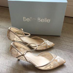 ae689a51845 Bella Belle Candice D'orsay Nude Lace Kitten Heel